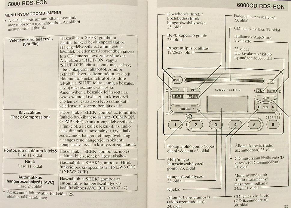 Radio cd 6000 ford manuals